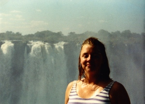 Me at Victoria Falls in Zimbabwe. Such a highlight... you can tell by my face! ;)