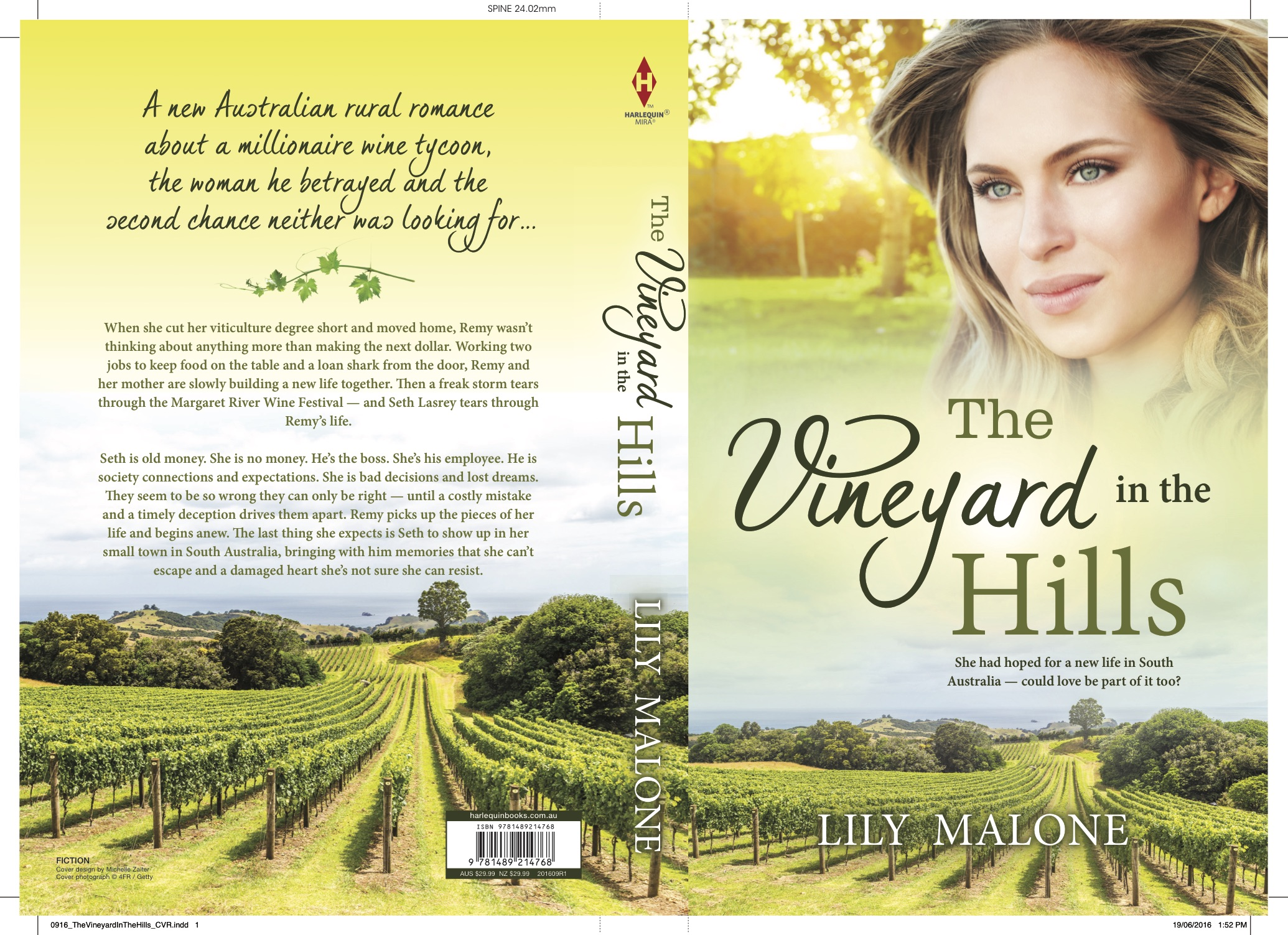 The Vineyard In The Hills print cover